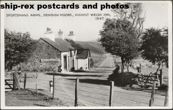 Denbigh Moors, Sportsmans Arms, postcard